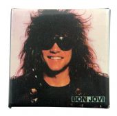 Bon Jovi - 'Jon Sunglasses' Square Badge